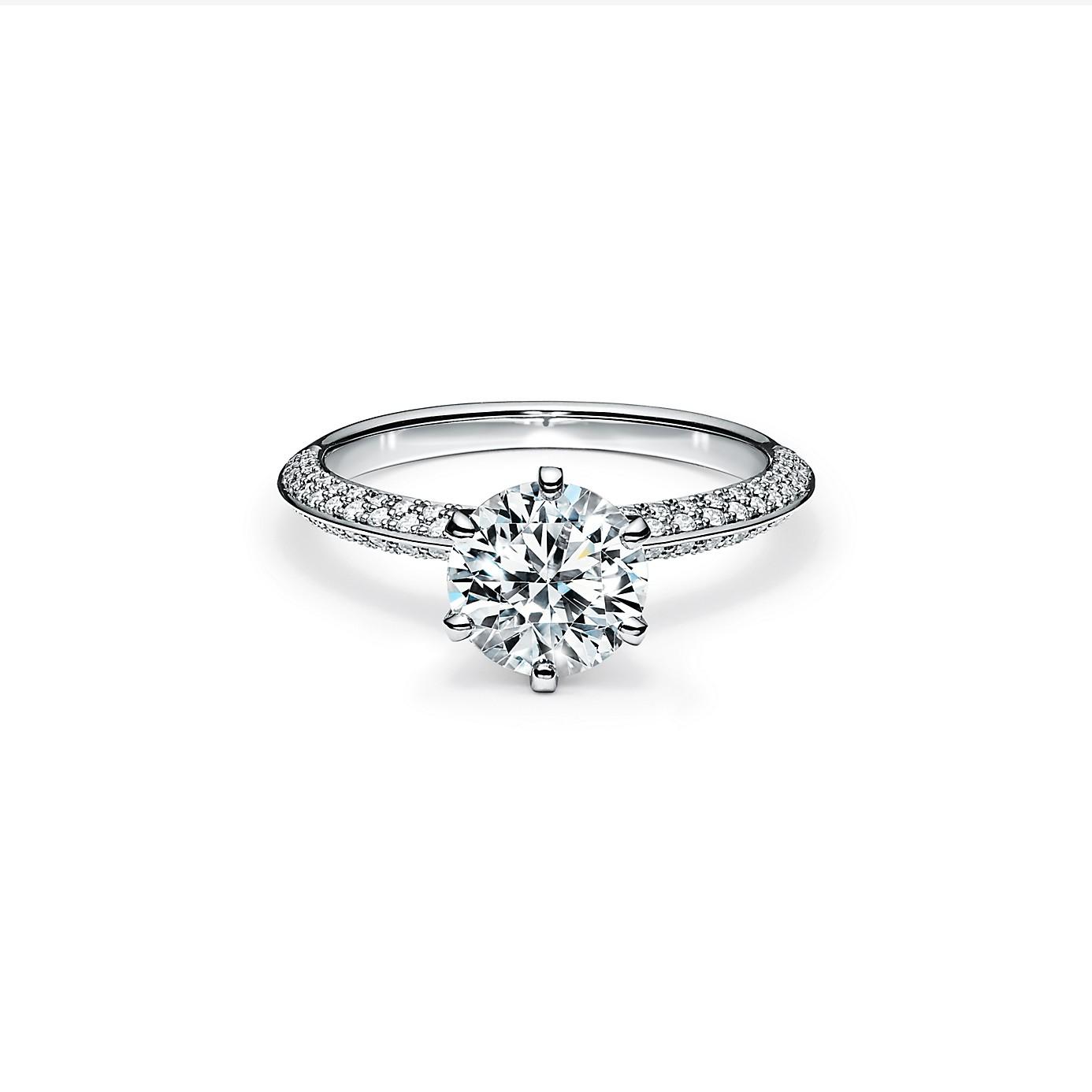 ティファニー セッティング エンゲージメント リング パヴェ ダイヤモンド バンド(1)―Tiffany & Co.(ティファニー)