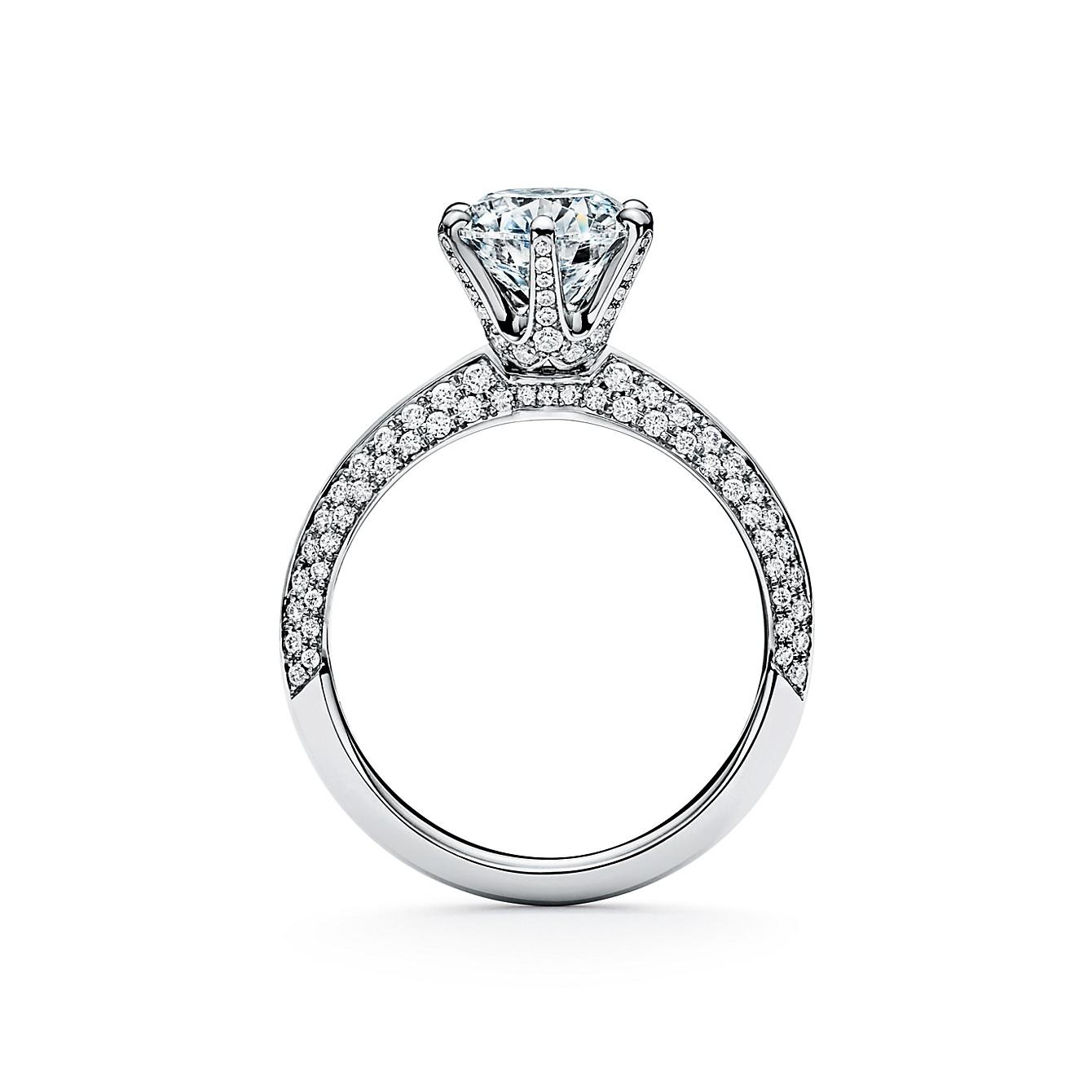 ティファニー セッティング エンゲージメント リング パヴェ ダイヤモンド バンド(2)―Tiffany & Co.(ティファニー)