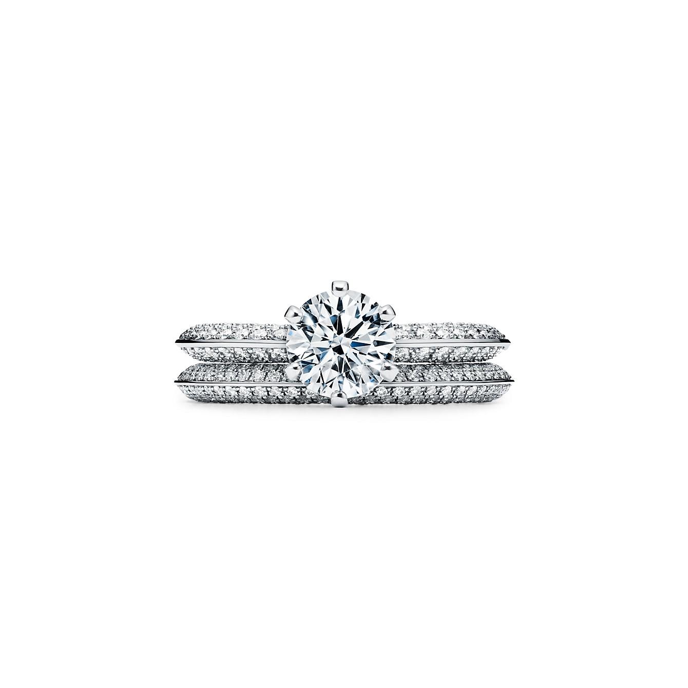 ティファニー セッティング エンゲージメント リング パヴェ ダイヤモンド バンド(3)―Tiffany & Co.(ティファニー)