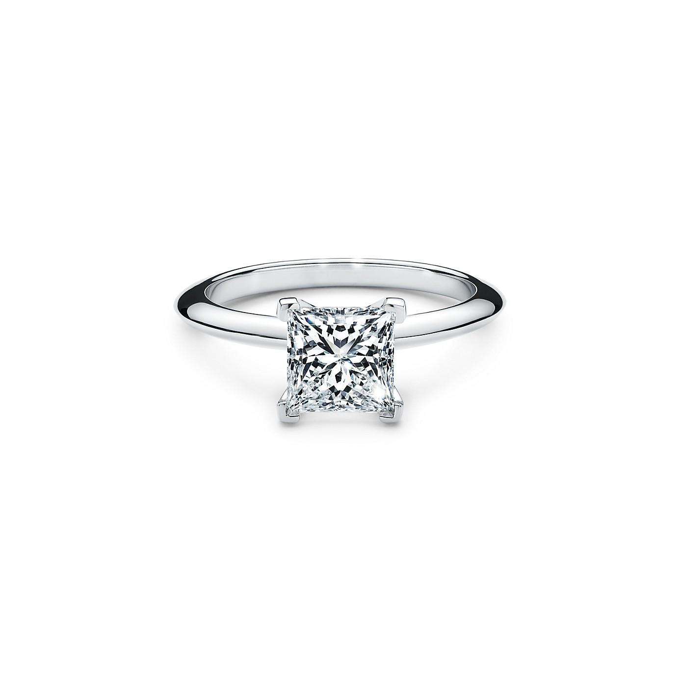 プリンセス カット ダイヤモンド エンゲージメント リング(1)―Tiffany & Co.(ティファニー)