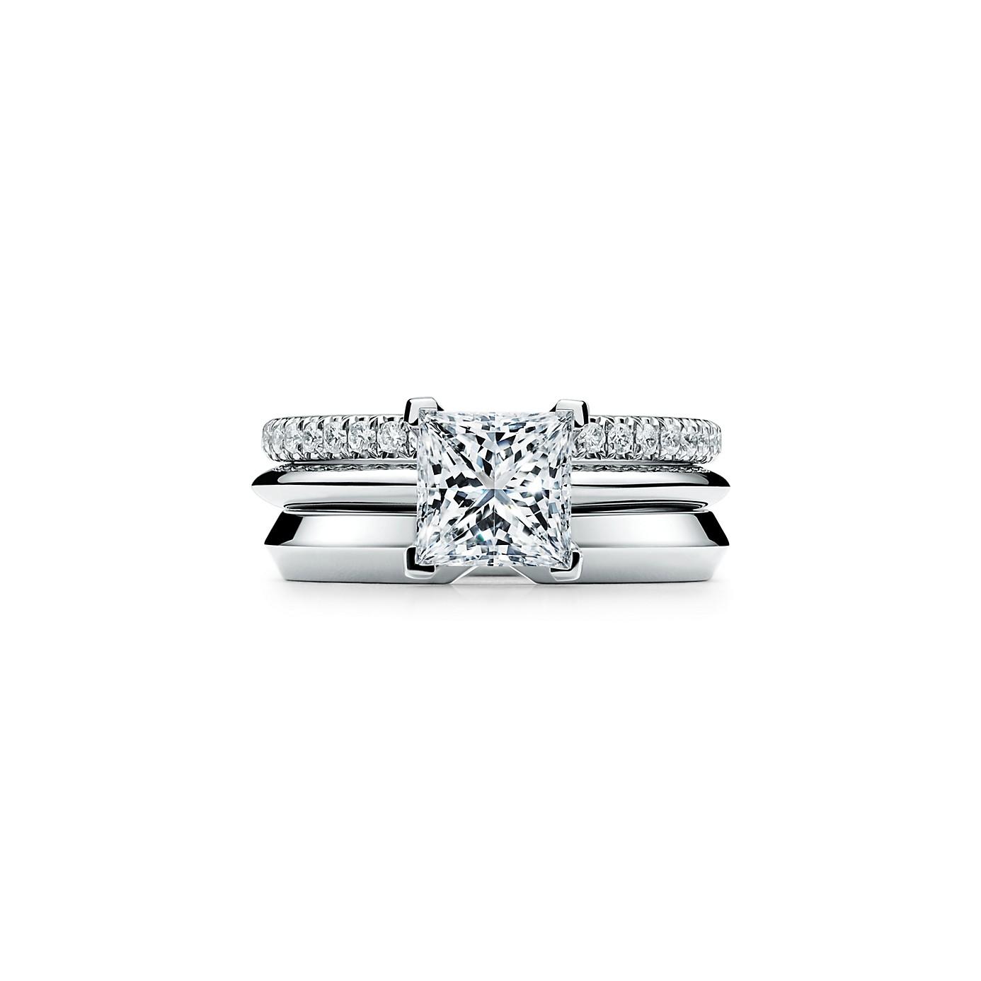 プリンセス カット ダイヤモンド エンゲージメント リング(3)―Tiffany & Co.(ティファニー)