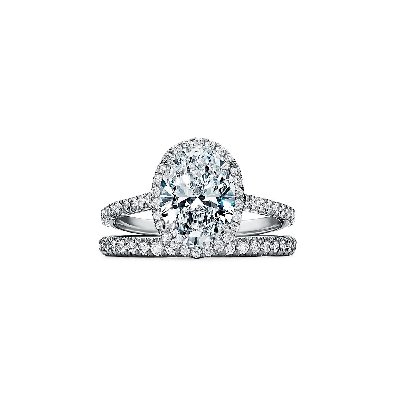 ティファニー ソレスト オーバル カット ダイヤモンド エンゲージメント リング(3)―Tiffany & Co.(ティファニー)