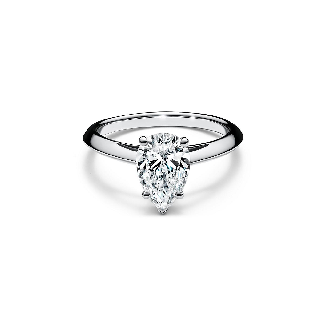 ペアシェイプ ダイヤモンド エンゲージメント リング(1)―Tiffany & Co.(ティファニー)