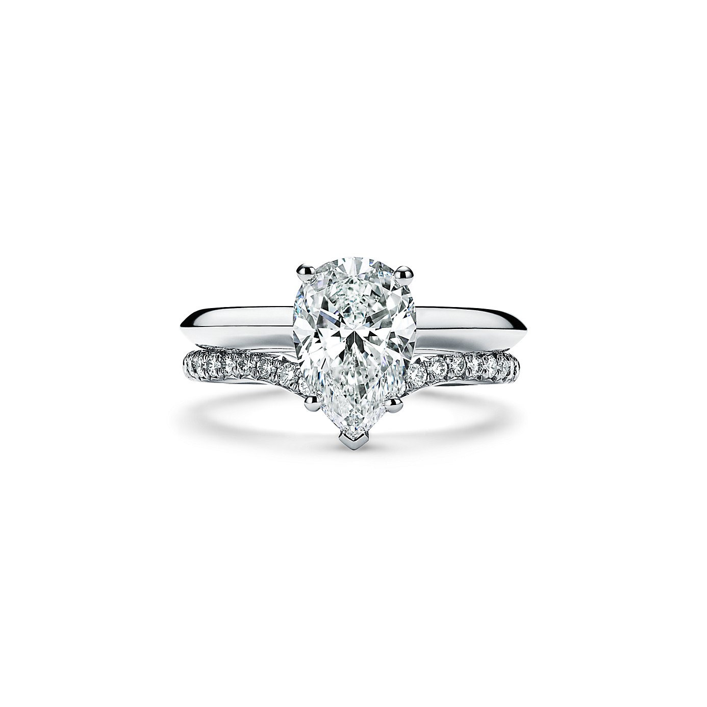 ペアシェイプ ダイヤモンド エンゲージメント リング(4)―Tiffany & Co.(ティファニー)