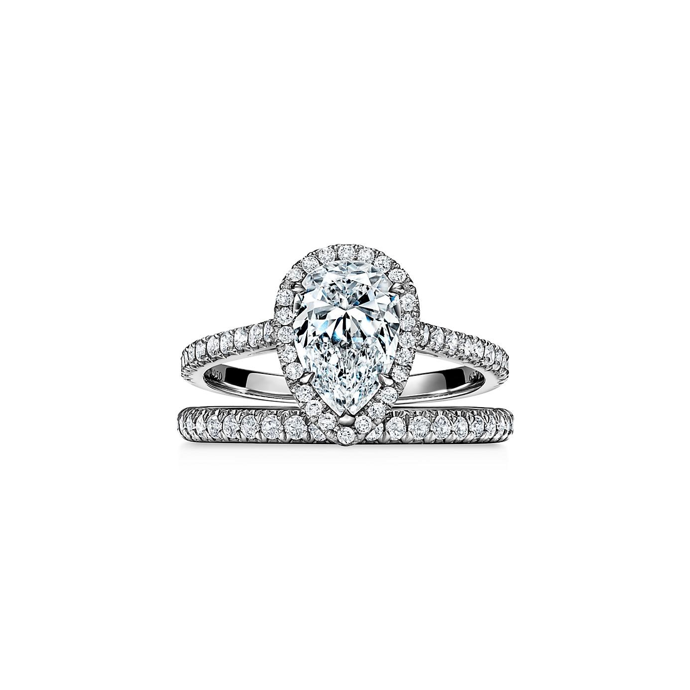 ティファニー ソレスト ペアシェイプ ダイヤモンド エンゲージメント リング(3)―Tiffany & Co.(ティファニー)