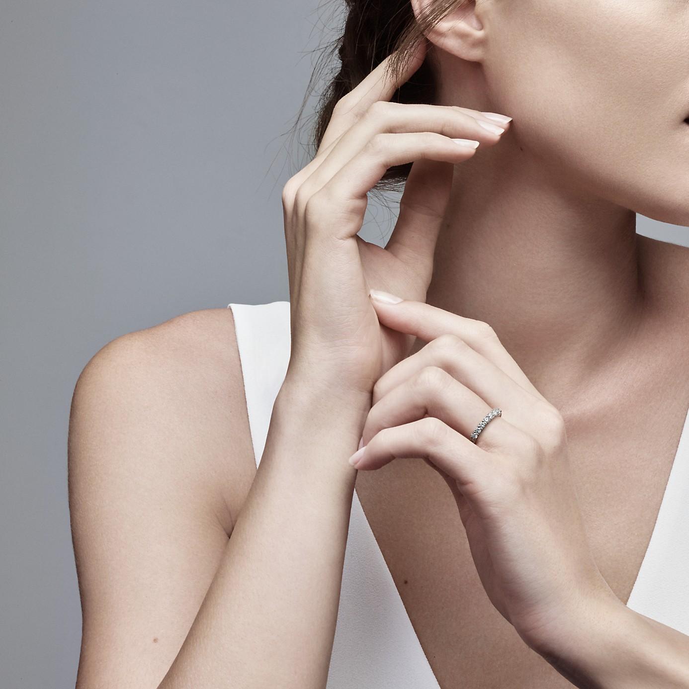 ティファニー エンブレイス バンドリング ダイヤモンド(2)―Tiffany & Co.(ティファニー)