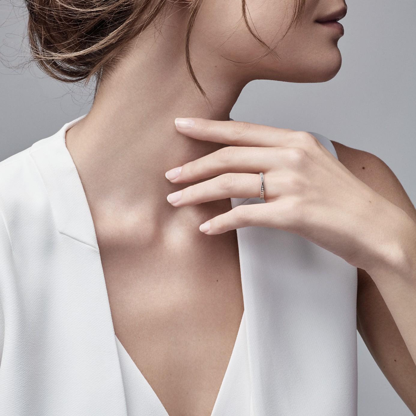 ティファニー ハーモニー ビーズ セット ダイヤモンド リング(2)―Tiffany & Co.(ティファニー)