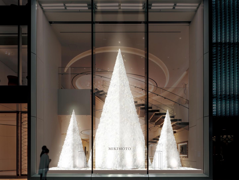 11月23日(木・祝)ミキモト銀座4丁目本店に登場。パールホワイトに輝く「クリスマスツリー」(1)―MIKIMOTO(ミキモト)