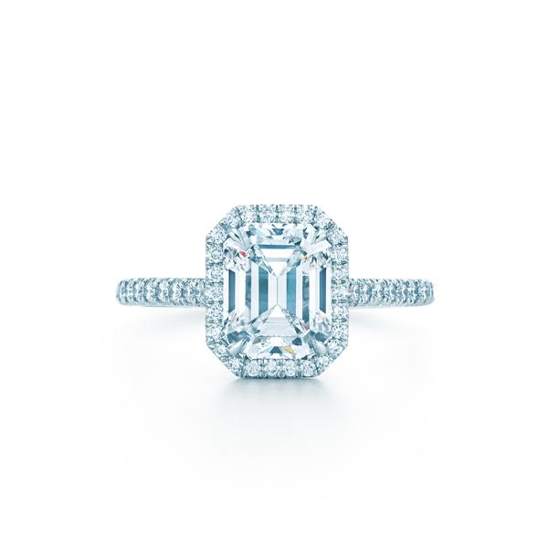 ティファニー ソレスト エメラルドカット ダイヤモンド バンド エンゲージメント リング(1)―Tiffany & Co.(ティファニー)
